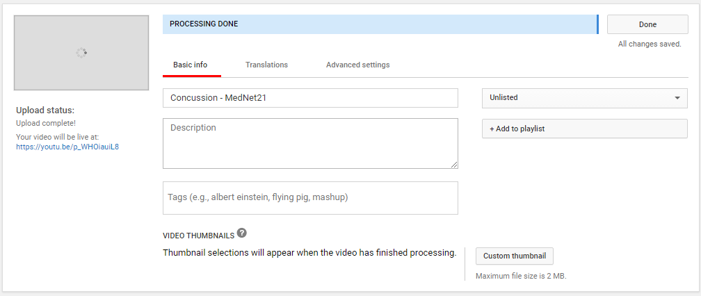Adding titles to videos